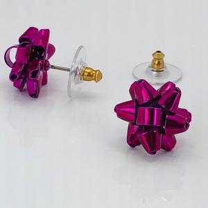NEW Kate Spade Pink Bourgeois Bow Stud Earrings
